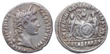 Ancient Coins -  Augustus. 27 BC-AD 14. AR Denarius (20mm, 3.59 g, 7h). Lugdunum (Lyon) mint. Struck 2 BC-AD 12.