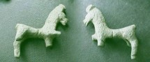Ancient Coins -  Roman bronze figurine of a horse.  56mm with three legs broken off.