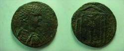 Ancient Coins - CARIA. Mylasa. Geta. As Caesar,AE 35. AD 198-209. Ionian tetrastyle temple . SCARCE.