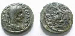 Ancient Coins - Gordian III Æ 24mm of Macedon, Edessa. Roma Nikephoros seated lef crowned by city-goddess .