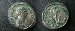 Ancient Coins - Probus AE Antoninianus. VICTORIA GERM, Trophy between two captives;EF