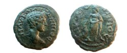 Ancient Coins - Caracalla AE18 of Nikopolis ad Istrum. Asklepios advancing right, head left, with serpent-entwined staff.