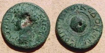 Ancient Coins - Marcus Aurelius AE27 of Macedonia. Macedonian shield.