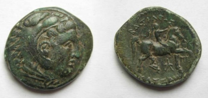 Ancient Coins - MACEDONIA: CASSANDER. 319-297 BC. Bronze -20mm(6.00 gm).