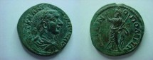 Ancient Coins - Hadrianopolis.  Serapis standing left, holding long staff & raising right arm.