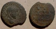 Ancient Coins - Elagabalus AE23 of Nicaea, Bithynia. 3 military standards.