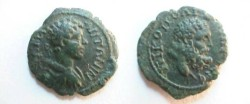 Ancient Coins - Caracalla AE18 of Nikopolis ad Istrum.  Head of Hercules right.