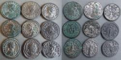 Ancient Coins - Lot of 9 unattributed  Antoninianus!vf-gVF