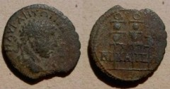 Ancient Coins - Elagabalus AE23 of Nicaea, Bithynia. 3 military standards.