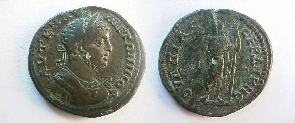 Ancient Coins - Elagabalus AE30 of Serdica. Zeus standing left holding thunderbolt & scepter.