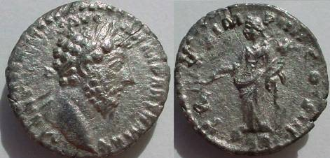 Ancient Coins - Marcus Aurelius Denarius.  TR P XX IMP IIII COS III, Pax standing left with olive branch & cornucopia, PAX in ex.
