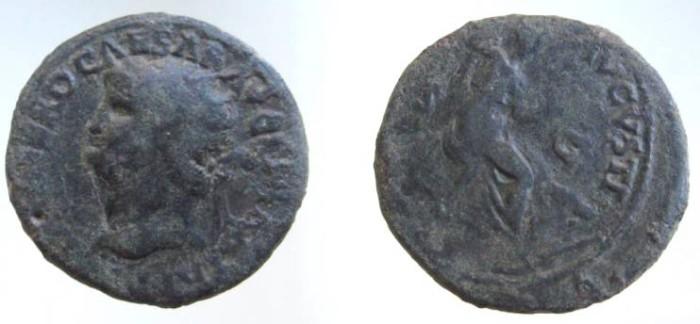 Ancient Coins - NERO AD54-68. Dupondius. SECURITAS AUG, Securitas seated  right. Nice portrait and coin!