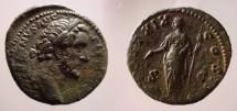 Ancient Coins - Antoninus Pius AE As.Providentia standing left
