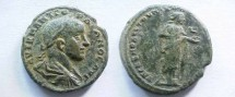 Ancient Coins - Gordian III Æ 27mm of Nikopolis ad Istrum. Hygeia standing right feeding serpent from patera.