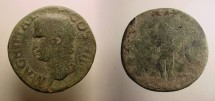 Ancient Coins - Agrippa, Æ as. Neptune standing, head left, S C at sides.