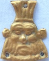 Ancient Coins - Either the  demonic fighter BES or PAZUZU,King of the demons ! Gold  amulet.