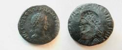 Ancient Coins - Crispus AE3 Brockage.  N D F L IVL CRISPVS NOB CAES, laureate, cuirassed bust right / incuse of same.