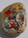 Ancient Coins - UNIQUE  ICON PENDANT WITH SAINT -GEORGES ON STONE