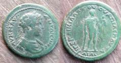 Ancient Coins - Caracalla AE 27mm of Pautalia, Thrace.Hercules standing holding CHILD.Unpublished
