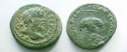 Ancient Coins - Septimus Severus AE19 of Pautalia. Bunch of grapes on a stem.
