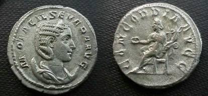 Ancient Coins - Otacilia Severa Antoninianus.  CONCORDIA AVGG, Concordia seated left with patera & cornucopiae.