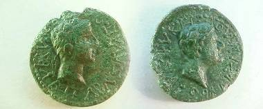 Ancient Coins - Rhoemetalkes I, client king of Thrace, Æ20.  Bare head of Augustus right.