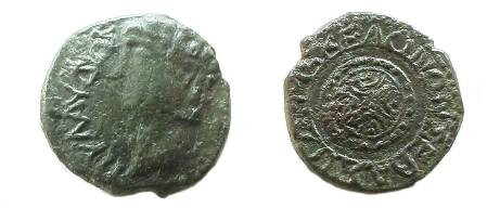 Ancient Coins - AE24 imititive or contemporary counterfeit of Koinon of Macedon.