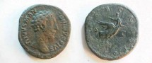 Ancient Coins - Divus Marcus Aurelius Æ Sestertius.  CONSECRATIO S-C, Marcus being borne off by an eagle.