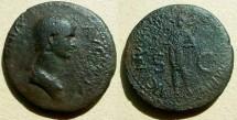 Ancient Coins - ANTONIA MINOR,Daughter of Marc Antony , wife of Nero Claudius Drusus,  mother of Germanicus and Claudius Æ Dupondius.