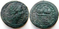 Ancient Coins - KOINON OF MACEDON. Time of Gordian III. AE 28mm.Diademed head of Alexander. Two prize urns on table