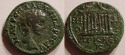 Ancient Coins - Severus Alexander AE20 of Nicaea in Bithynia.Temple with 8 columns.Rare
