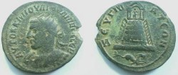 Ancient Coins - Philip I AE32 of Commagene, Zeugma.  Tetrastyle temple of Zeus(?) with peribolos containing grove of trees, capricorn right in ex.