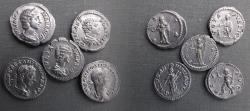 Ancient Coins - Lot of 5 Beautiful unattributed Roman Denarius.gv!F