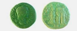 Ancient Coins - Maximinus I AE25 of Anchialus. Three female figures (Demeter, Persephone & Hecate?)