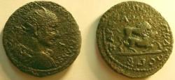 Ancient Coins - Trajan Decius AE34 of Tarsos, Cilicia.  Lion bringing down a bull.