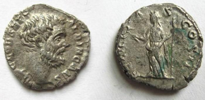 Ancient Coins - Clodius Albinus, as Caesar, AR Denarius.Felicitas standing, head left, holding caduceus and sceptre.