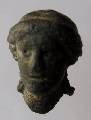 Ancient Coins -  Beautiful  bronze Roman statuary fragment of a hed of a beautiful woman(probably the wife of  a dignity) 100- 300 AD.