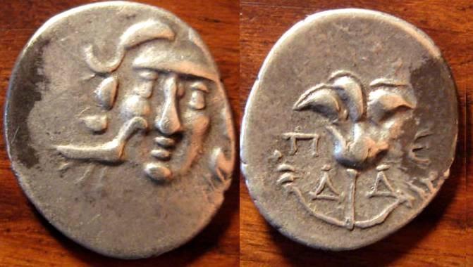 Ancient Coins - Rhodian Peraia, Carian Islands, AR Drachm. 3rd to 2nd century BC, Head of Helios