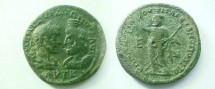 Ancient Coins - Gordian III & Serapis Æ28mm of Markianopolis.  Serapis standing left with transverse scepter.