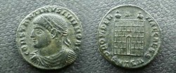 Ancient Coins - Constantine II AE3,  326-8 AD.  PROVIDENTIAE CAESS, campgate with two turrets and star above, SMTS<font face=