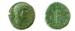 Ancient Coins - Aelius AE As.  TR POT COS II, Spes advancing left with flower and raising hem of skirt.
