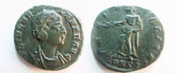 Ancient Coins - Helena AE4.  PAX PVBLICA, Pax standing left.EF