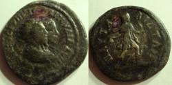 Ancient Coins -   THRACE.PAUTALIA-SEPTIMIUS SEVERUS AND JULIA DOMNA.AE 25.ARTEMMIS .RRRR