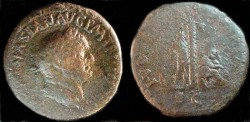 Ancient Coins - Vespasian AE Sestertius. IVDEA CAPTA, palm tree and captives.