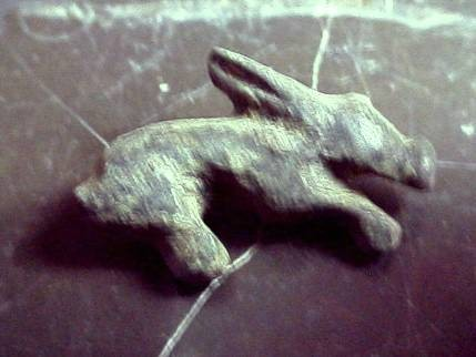 Ancient Coins -  Roman bronze brooch in the shape of a rabbit.  24mm.