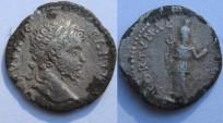 Ancient Coins - Septimius Severus  Fourée  Denarius. 197-198 AD. , laureate head right / FORTUNA...