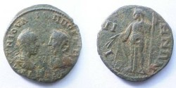 Ancient Coins - Philip I & Otacilia Severa AE29 of Bizya, Thrace.  Demeter advancing left with corn ears & long torch.