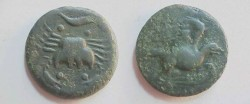 Ancient Coins - Unlisted AE24 of Akragas, Sicily.