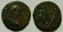 Ancient Coins - Elagabalus (?) AE26mm from where? / two athletes(?)