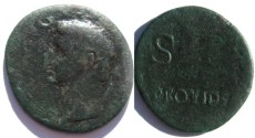 Ancient Coins - TIBERIUS 22-30 AD.AE AS.Provident SC